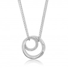 Twine Encircle Silver Necklace