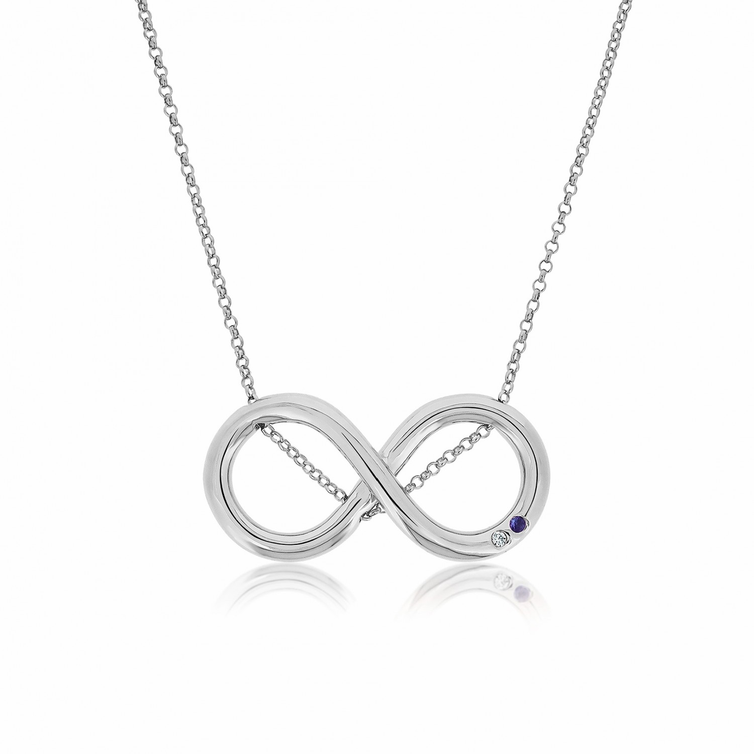 Twine Infinity Silver Necklace