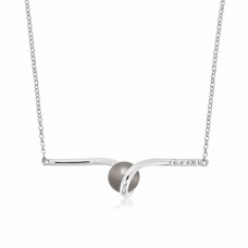 Twine Saturn Silver Necklace