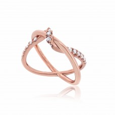 Twine Interweave Rose Ring