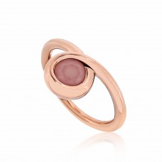 Twine Curly Loop Rose Ring