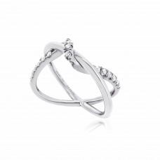 Twine Interweave Silver Ring