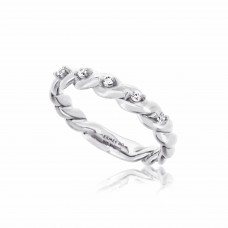 Twine Twisted Silver Ring