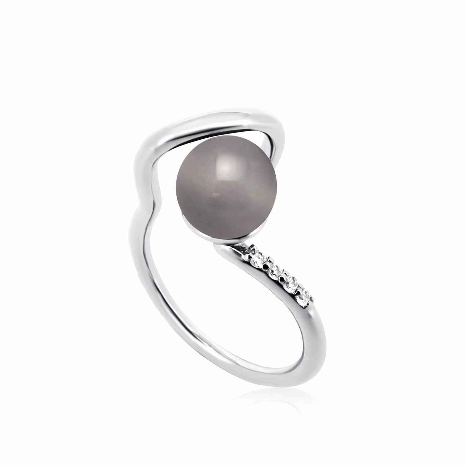 Twine Saturn Silver Ring