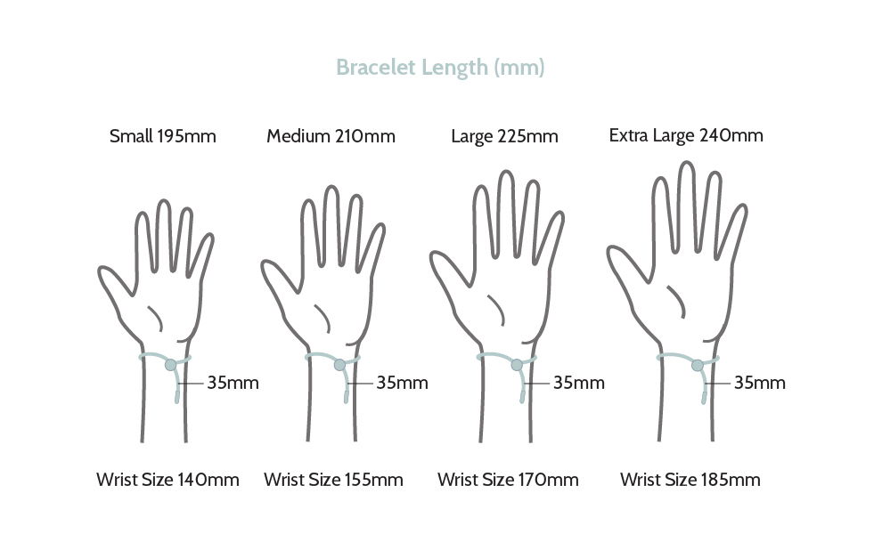 average bracelet sizes size guide 929